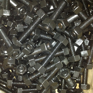 ASTM A194 2H Stud Bolts, Black Coating