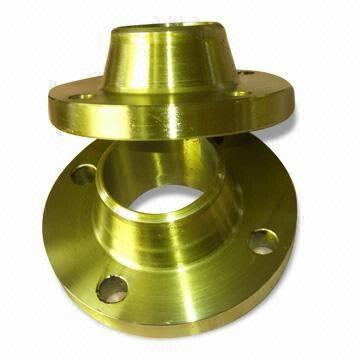Golden Coating Forged Flanges