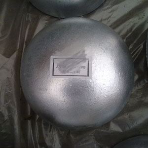 Galvanized, Seamless End Cap, 8 Inch, ASTM A234 WPB