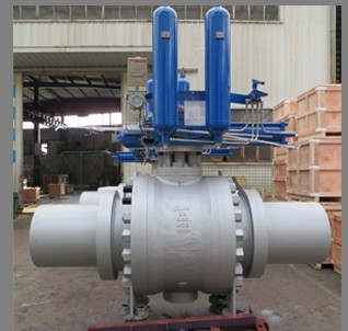 API 6D Trunnion Ball Valves, Gas Over Oil Actuated