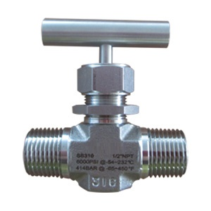 Stainless Steel Instrumentation Needle Valve, M-NPT End