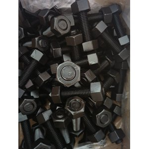 A193 B7 All Threaded Stud, 5/8 Inch, 140mm, Gr 2H Hex Nuts