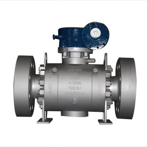 API 6D Trunnion Mounted Ball Valve, A105N, DN80, PN420