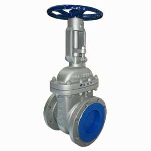 ASTM A216 WCB Gate valve, 6 Inch, A182 F6 Trim, Gray Painting