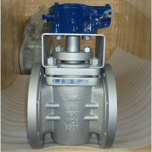 Gear Operated Plug Valve, A216 WCB, 8 Inch, 150LB